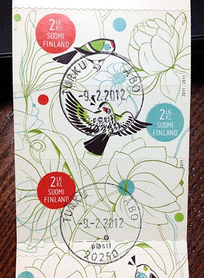 フィンランドの鳥切手