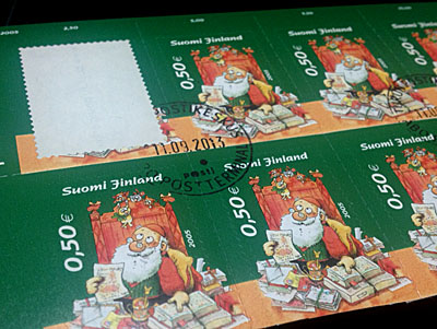 フィンランドのクリスマス切手