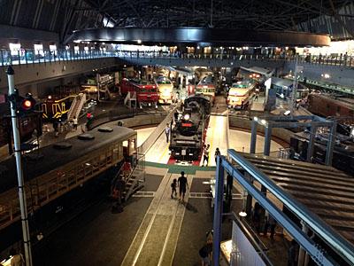 鉄道博物館の中の郵便